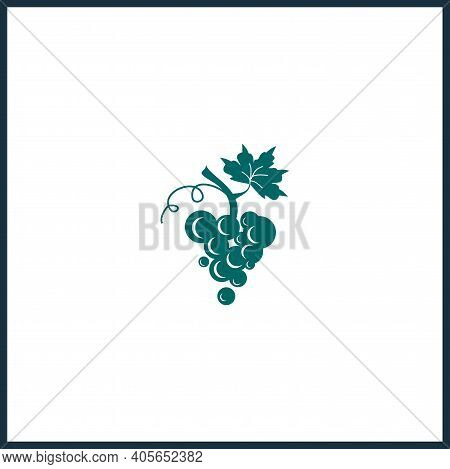Grapes Vector Icon, Grapes Simple Isolated Icon