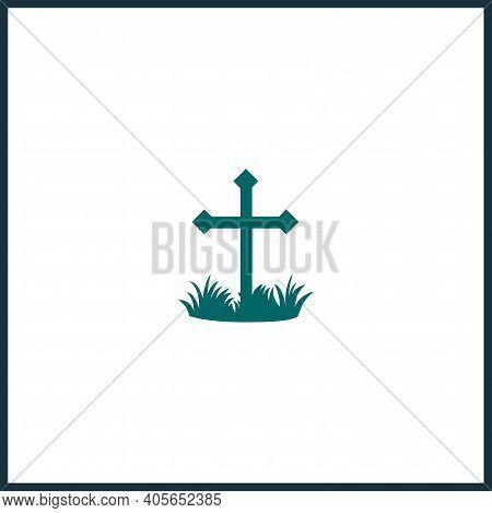 Grave Icon, Death Vector Icon, Grave Simple Isolated Icon