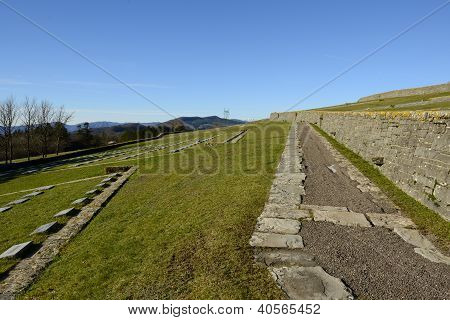 Path in the german war Cemetery in Futa Pass (Tuscany) poster