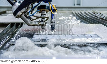 Machine For Cutting Steel Plate By Cnc Water Jet , Industrial Metalworking
