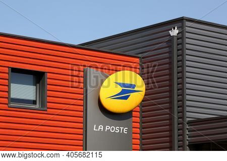Belleville, France - September 13, 2020:la Poste Building In France. La Poste Is A Postal Service Co