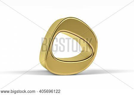 Golden Arabic Numeral - Three Dimensional Arabic Numeral On White Background - Translation: Digit