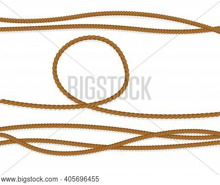 Realistic Pattern With Cord On White Background. Cord, Great Design For Any Purposes. Vector Flat Il