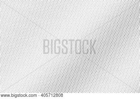 Black And White Vector Halftone. Subtle Halftone Digital Texture. Faded Dotted Gradient. Comic Effec