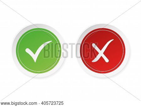Dos And Donts Red And Green Stickers. Simple Flat Modern Info Logotype Graphic Design Isolated On Wh