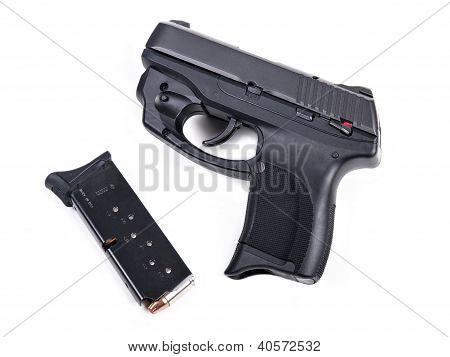 9Mm Handgun & Magazine