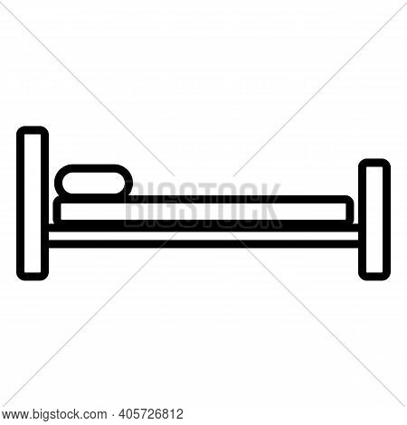 Bed Icon On White Background. Vector Illustration.