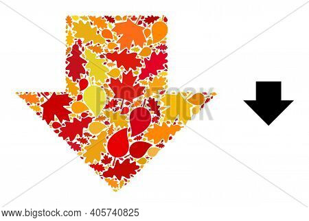 Download Arrow Mosaic Icon Designed For Fall Season. Vector Download Arrow Mosaic Is Constructed Of
