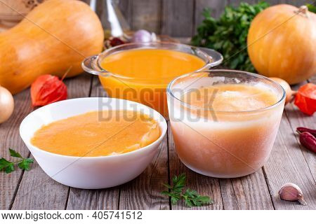 Frozen Pumpkin Soup. Frozen Food. Frozen Soup. Preparing Food For The Week