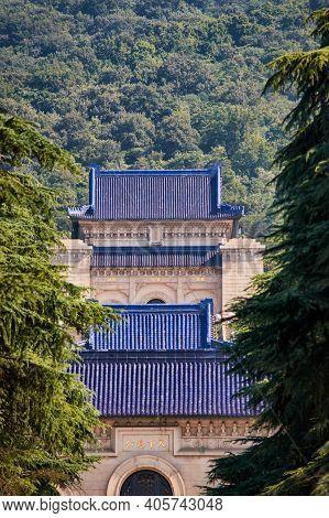 Sun Yat-sen Mausoleum At Purple Mountain In Nanjing, China