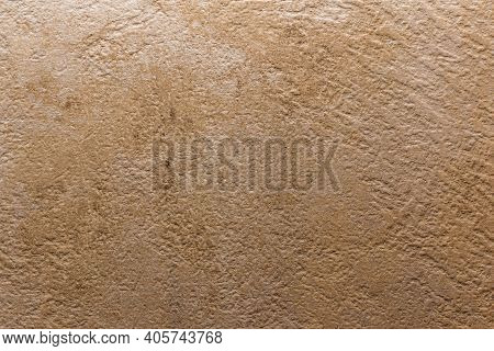 Light Brown Wall Stone Background. Abstract Grunge Dark Stone Texture. Concrete Wall