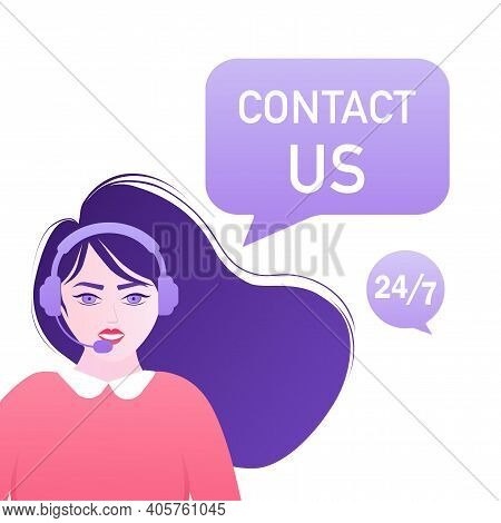 Contact Us Envelope People. Landing Page. Modern Advertising For Concept Design. Online Communicatio