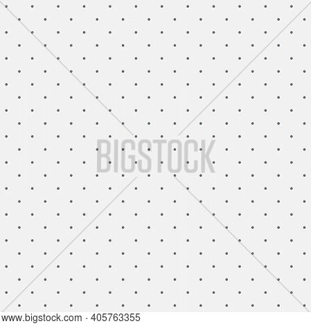 Seamless Pattern Shallow Dot On A Pale Smoky White Background. The Ordered Arrangement Of A Geometri