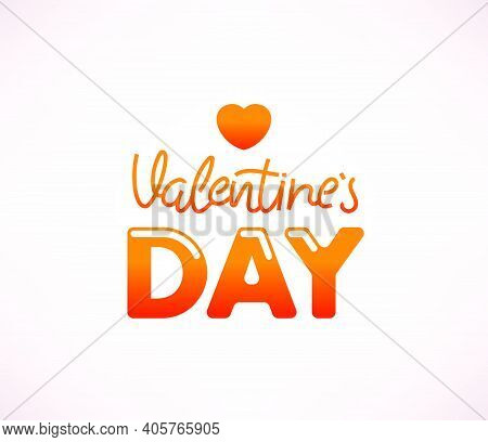 Vallentines Day Vector Logo Design With Text