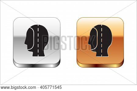 Black Diving Hood Icon Isolated On White Background. Spearfishing Hat Winter Swim Hood. Diving Under
