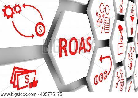 Roas Concept Cell Background 3d Render Illustration