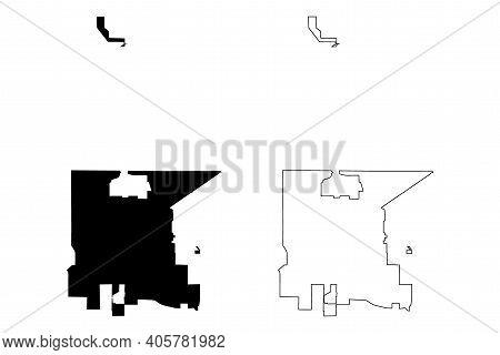 Clovis City, California(united States Cities, United States Of America, Usa City) Map Vector Illustr