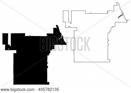 Palm Bay City, Florida (united States Cities, United States Of America, Usa City) Map Vector Illustr
