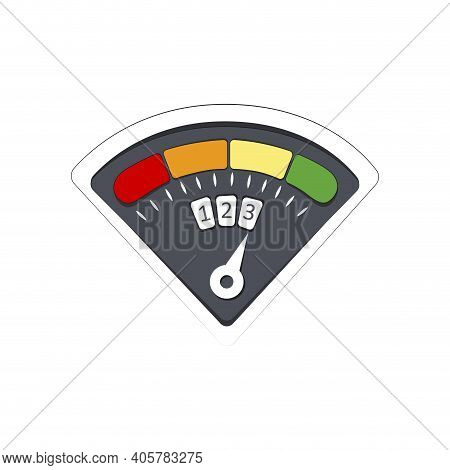 Gauge Credit Infographic, Finance Rate Good, High Level Score, Indicator To Report Customer Rating,