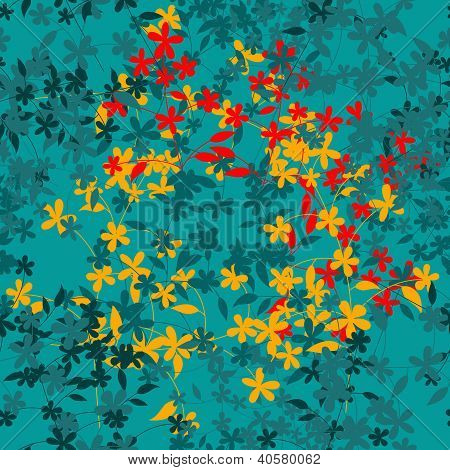 Abstract Seamless Flowers