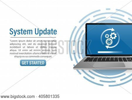 Illustration With Update Smartphone. Smartphone Icon Vector Illustration. Computer Technology. Compu