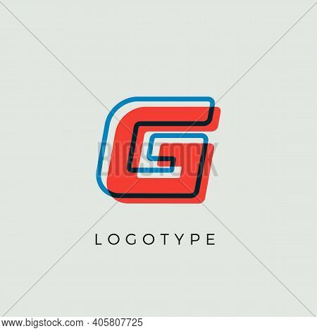 Stunning Letter G With 3d Color Contour, Minimalist Letter Graphic For Modern Comic Book Logo, Carto
