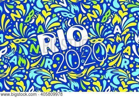Rio 2020. Brazilian Carnival Design Template. Vector Illustration