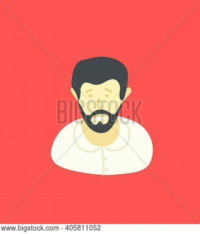Sketchy Style Artistic Character. Man With The Beard