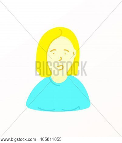 Sketchy Style Artistic Character. Woman With Yellow Sweeter