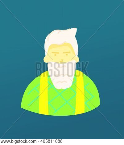 Sketchy Style Artistic Character. Old Man With The Beard