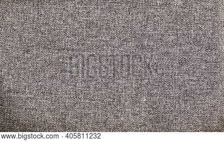 Cloth Texture Background. Upholstery Fabric. Brown Gray White Soft Warn Woven Fiber Textile Abstract