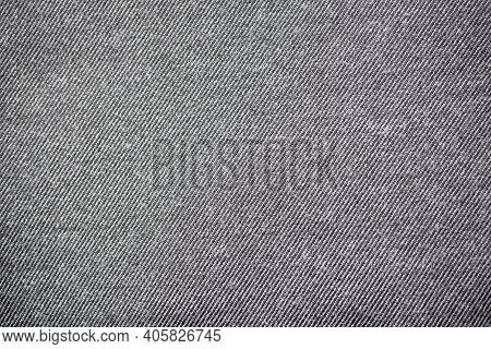 Gray Fabric Texture Close-up. Abstract Background. Pattern.
