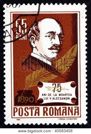 ROMANIA - CIRCA 1931: a stamp printed in the Romania shows Vasile Alecsandri, Statesman and Poet, circa 1931