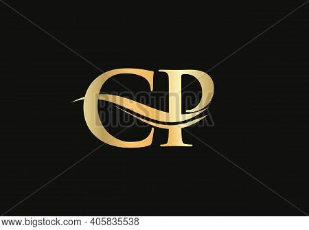Modern Cp Logo Design For Business And Company Identity. Creative Cp Letter With Luxury Concept.