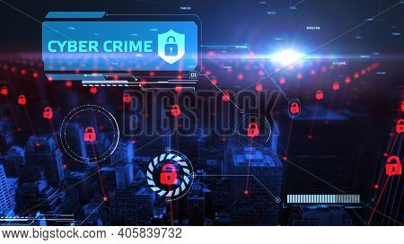Cyber Security Data Protection Business Technology Privacy Concept. Cyber Crime 3d Illustration