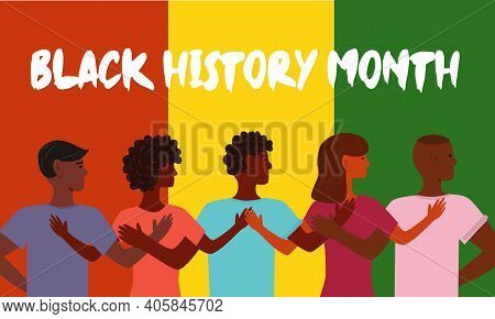 African American History Or Black History Month. Celebrated Annually In February In The Usa And Cana