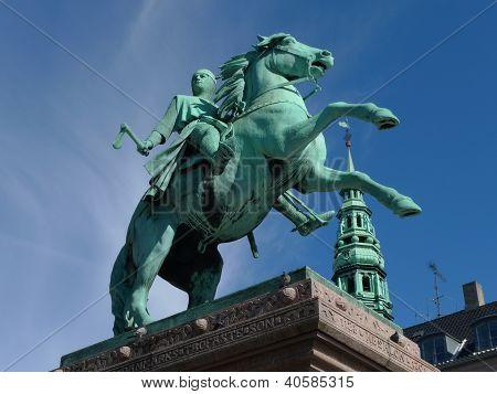 statue with horse in copenhagen