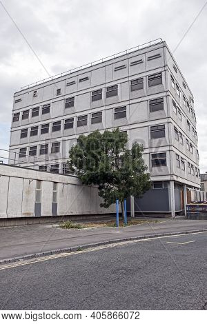 Weston-super-mare, Uk - August 1, 2018: The Former Police Station Awaiting Demolition