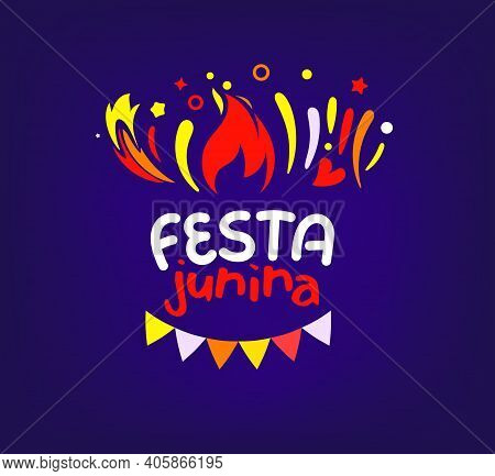 Festa Junina Festival Party Banner. Vector Illustration