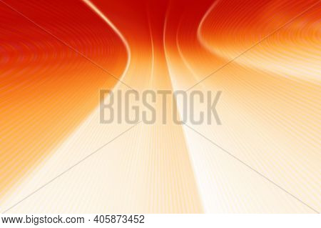 Abstract Red Background With Curved Lines. Red Perspective Background. Geometric Modern Background.