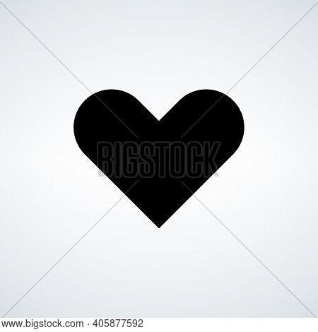 Heart Icon Vector. Perfect Love Symbol. Valentines Day Sign, Emblem Isolated On White Background Wit