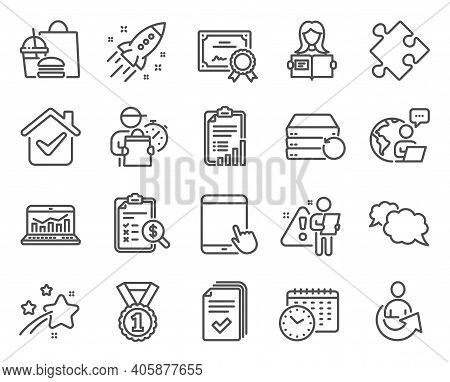 Education Icons Set. Included Icon As Calendar Time, Tablet Pc, Web Analytics Signs. Best Rank, Shar