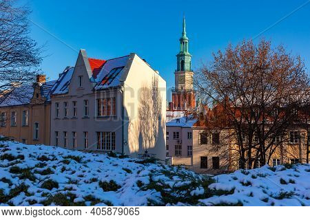 Poznan Town Hall In Old Town Of Poznan In The Sunny Winter Day, Poznan, Poland