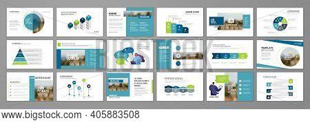 Business Presentation Infographic Elements Template Set. Keynote Presentation Background, Slide Temp