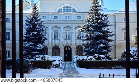 Warsaw, Poland. 31 January 2021. Building Of The Ministry Of Health
