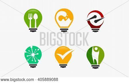 Food Idea Logo, Science Idea Logo, Fast Idea Logo Designs, Digital Idea Logo Designs, Idea Check Log