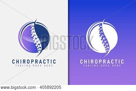 Modern Chiropractic Logo Design. Usable For Business, Community, Foundation, Medical, Services Compa