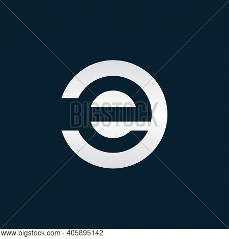 Initial Letter Ce Or Ec Creative Logo Template. Vector Illustration And Logo Inspiration