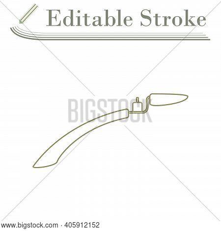 Bike Fender Icon. Editable Stroke Simple Design. Vector Illustration.