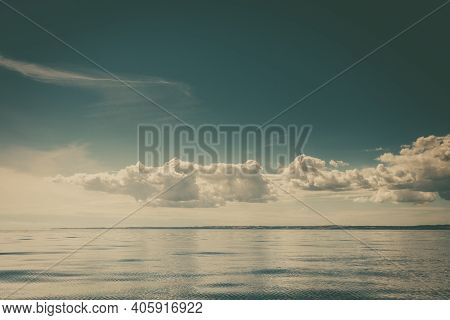 Seascape Sea Horizon And Sky.